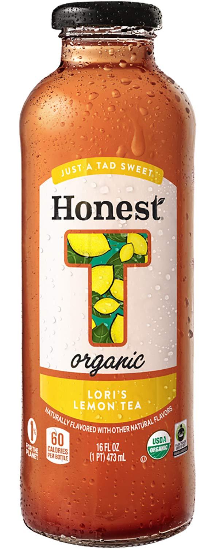 Honest Organic, Naturally Flavored, Just A Tad Sweet, Lori's Lemon Tea, 16 fl oz (12 Glass Bottles)