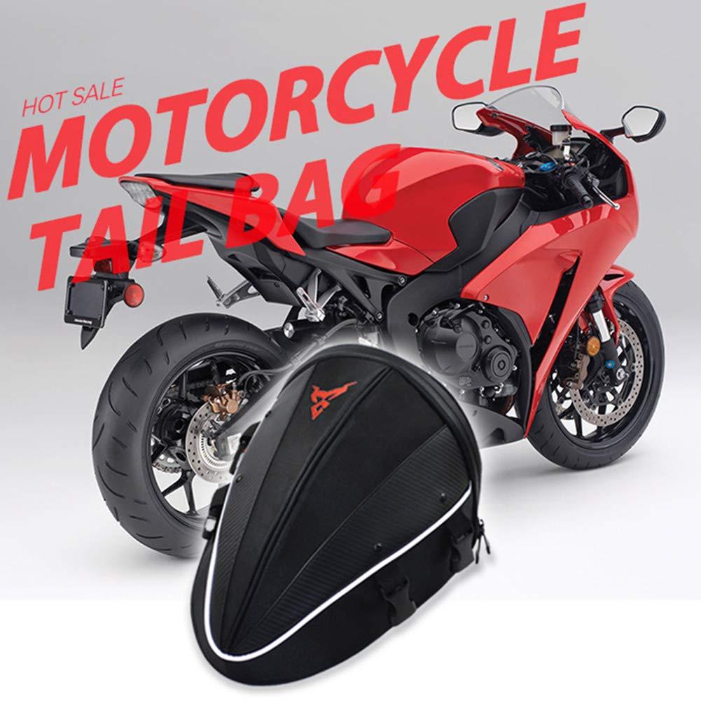 JoyFan Borsa da Sella Moto Borsa da Sella Impermeabile Borse da Sella per Moto Nera con Cinturino