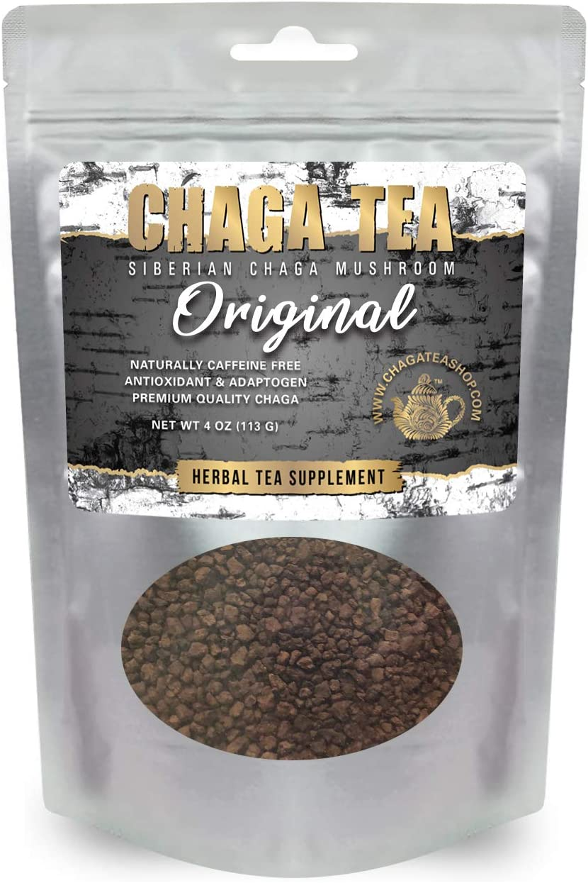 Siberian Chaga Mushroom Loose Tea 4 Oz. 113g. Caffeine Free Natural Immune System Booster and Body Healer Original