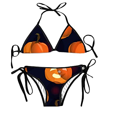 fff8a790cb40c for Halloween Bralette Halter Bikini Swimsuit Tankinis Strappy top for Women