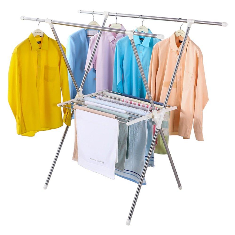 物干しラック 衣服のラック床のタイプ室内の折り畳み家庭用エアフォイルベビー服速乾ラックバルコニーサンタンフレーム B07DQDVFRZ