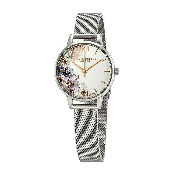 Olivia Burton Reloj Analógico para Mujer de Cuarzo con Correa en Acero Inoxidable OB16PP37