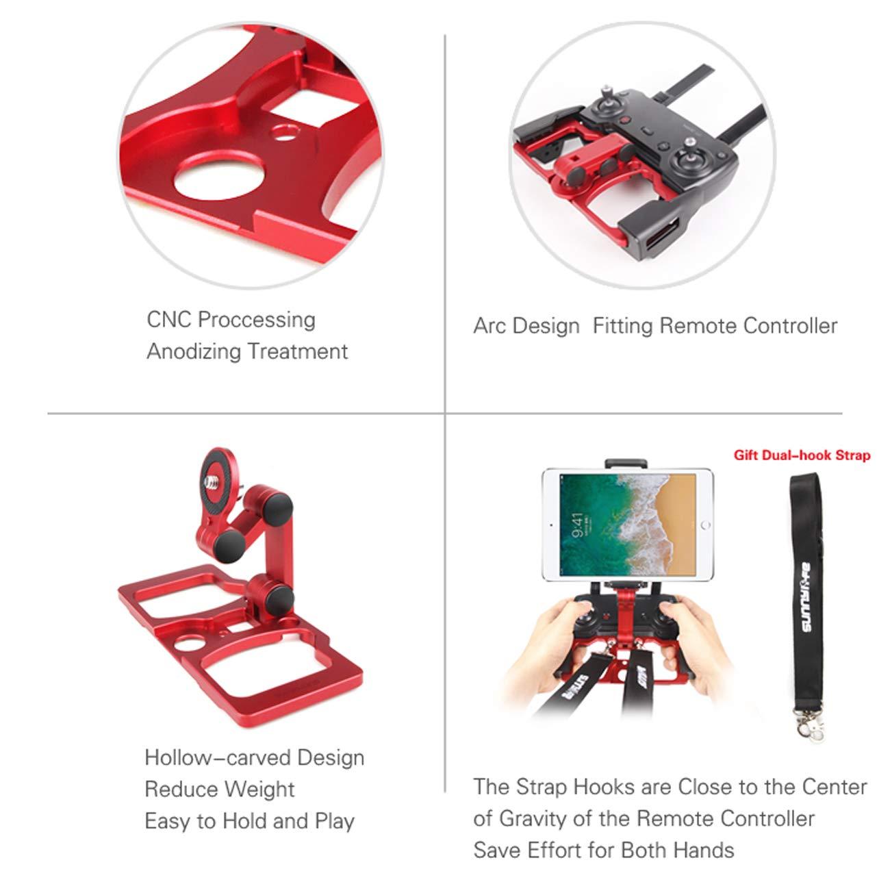 Crystalsky-Monitoren NEWZCERS Aluminium faltende Fernsteuerungsklammer f/ür Mavic 2 \ Mavic Pro \ Mavic Air \ Spark Unterst/ützung f/ür Handys Tabletten