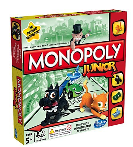 Monopoly Junior Hasbro A6984105 Amazon Es Juguetes Y Juegos