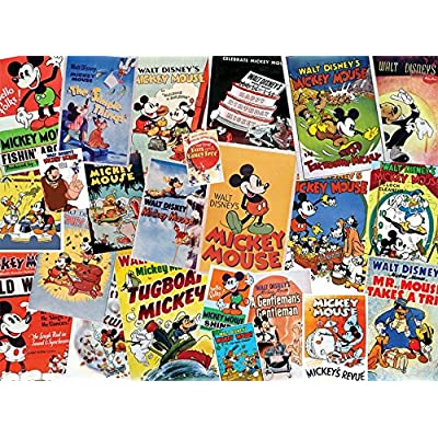 Ceaco Disney Mickey Mouse Vintage Collage Jigsaw Puzzle, 1500 Pieces: Toys & Games