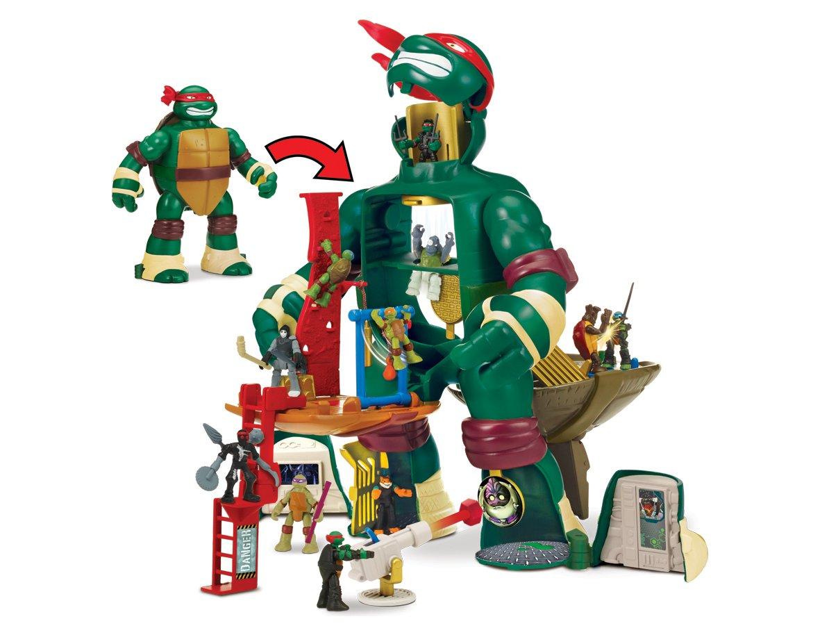 Turtles Micro Mutants Raphs Train N Battle Playset ...
