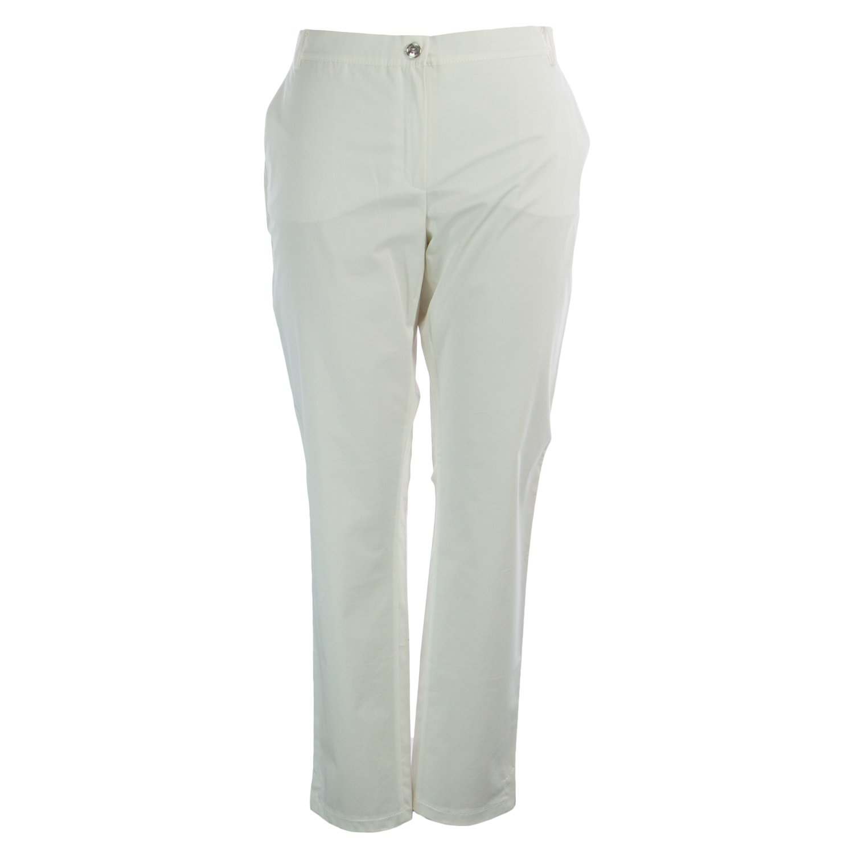 Marina Rinaldi Women's Renzo Super Slim Cut Pants 16W / 25 White