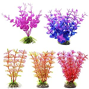 Souarts Fish Tank Artificial Flower Home Hotel Office Wedding Party Garden Craft Art Decoration 5PCS 120