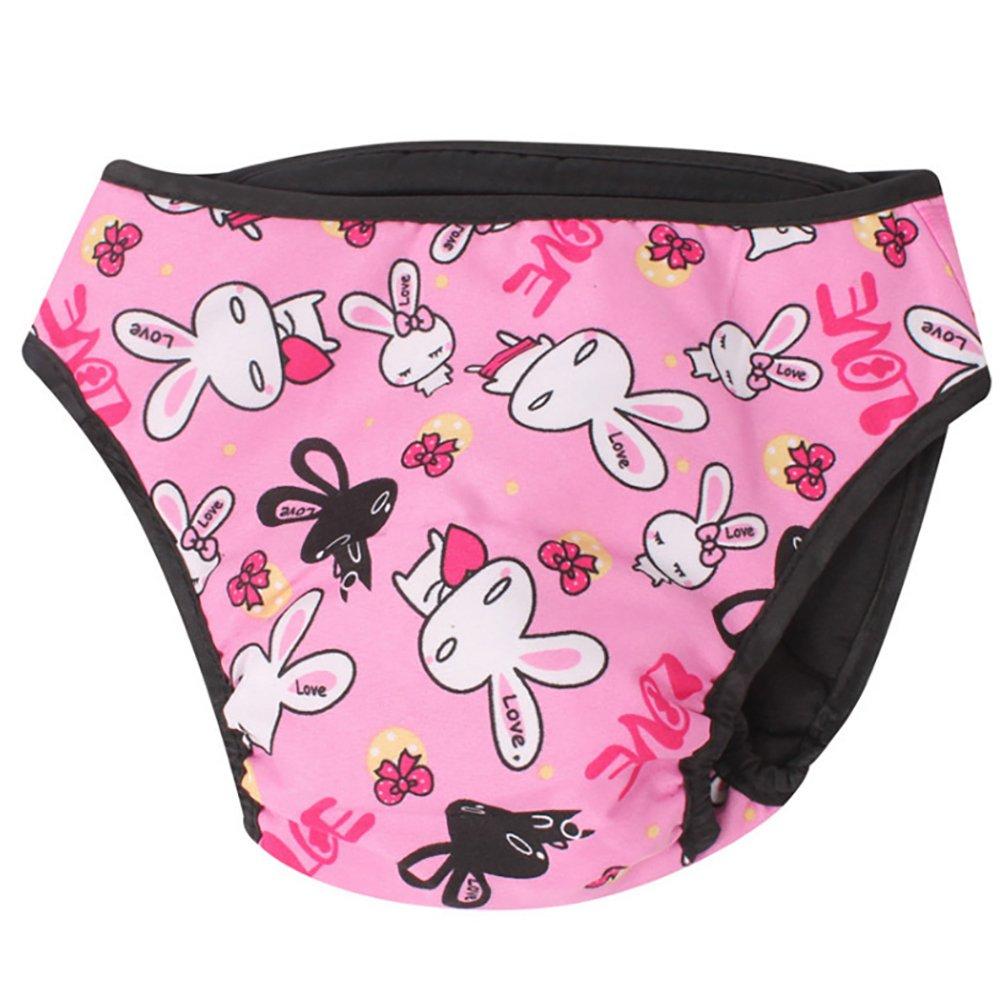 Newin Star Couches pour Chiens lavables Couches pour Chiens Mouchoirs pour Chats Pink Rabbit S
