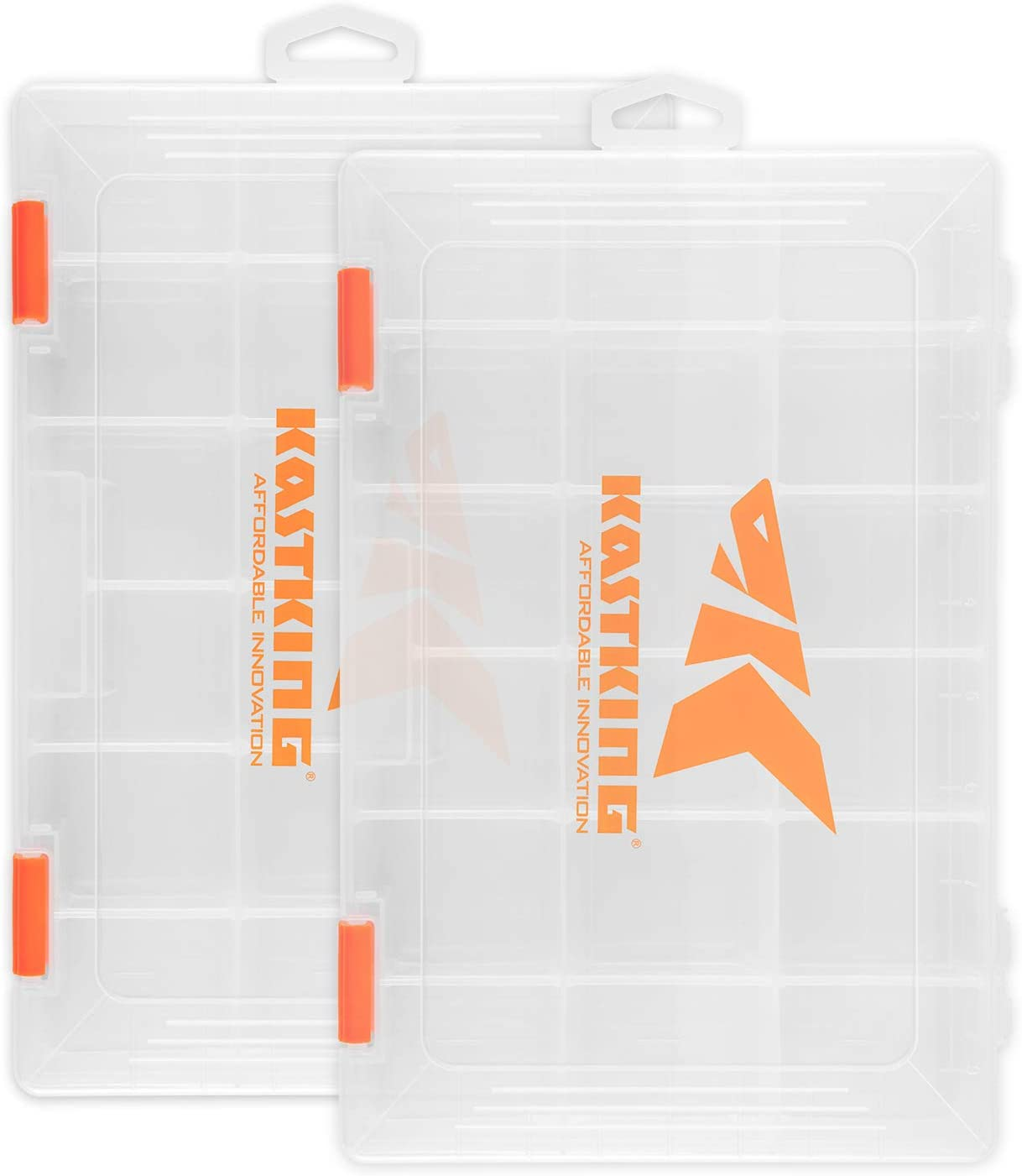 KastKing Tackle Boxes, Plastic Box, Plastic Storage Organizer Box with Removable Dividers – Fishing Tackle Storage – Box Organizer – 2 Packs 4 Packs Tackle Trays – Parts Box