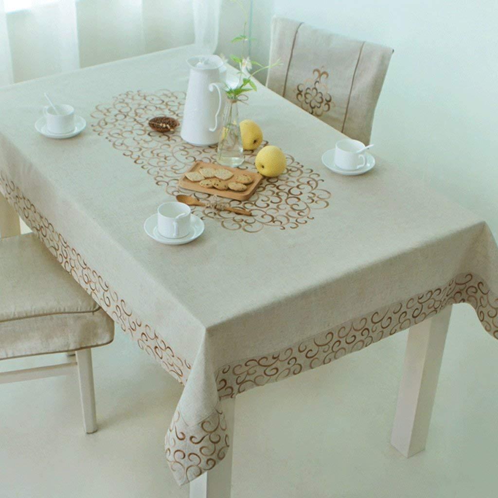 Hanpiaotech テーブルクロスヨーロッパスタイルパスタリネン刺繍布テーブルクロス長方形のコーヒーテーブルテーブルクロス小さなdテーブルクロス (サイズ : 140*180cm) 140*180cm  B07S49L76B