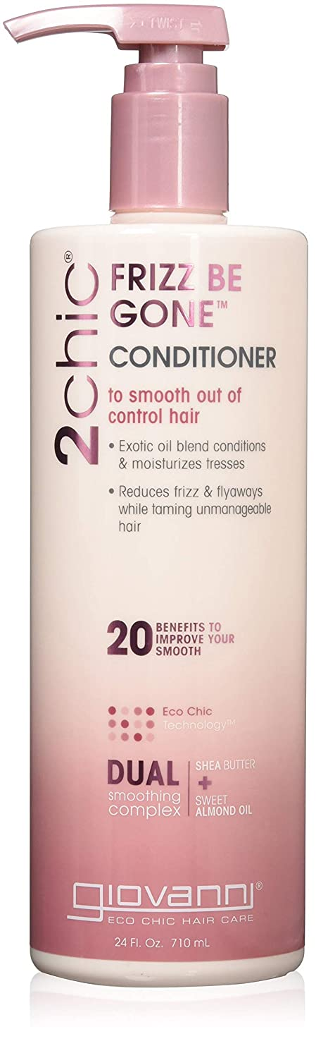 Giovanni 2Chic Anti-Frizz Conditioner - Frizz Be Gone Formula with Shea Butter & Sweet Almond Oil 24 oz.