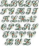 ThreaDelight ABC Machine Embroidery Designs Set - Wildwood Ivy Font Embroidery Designs 5x7 Hoop - CD