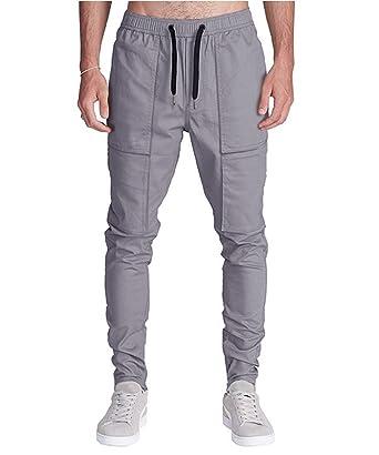 Pantalon Homme Casual Décontracté Chino Slim Fit Mode Loisirs Sport Jogging  Sarouel  Amazon.fr  Vêtements et accessoires 4fef947feaa