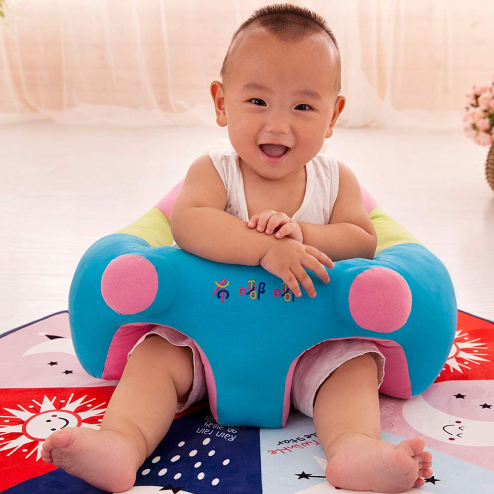 Alapaste Baby Support Seat Sofa Safe Cartoon U Shaped Learning to Sit Chair PP Cotton Pillow Protector Cushion Toys Sitting Sofa Dining Chair for 0-2 Years Old Baby