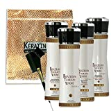 KERATIN CURE 0% Formaldehyde BRAZILIAN THERAPY XTREME BTX - 5 oz TREATMENT GOLD GLAMOUR 150 ML 6 PIECE KIT