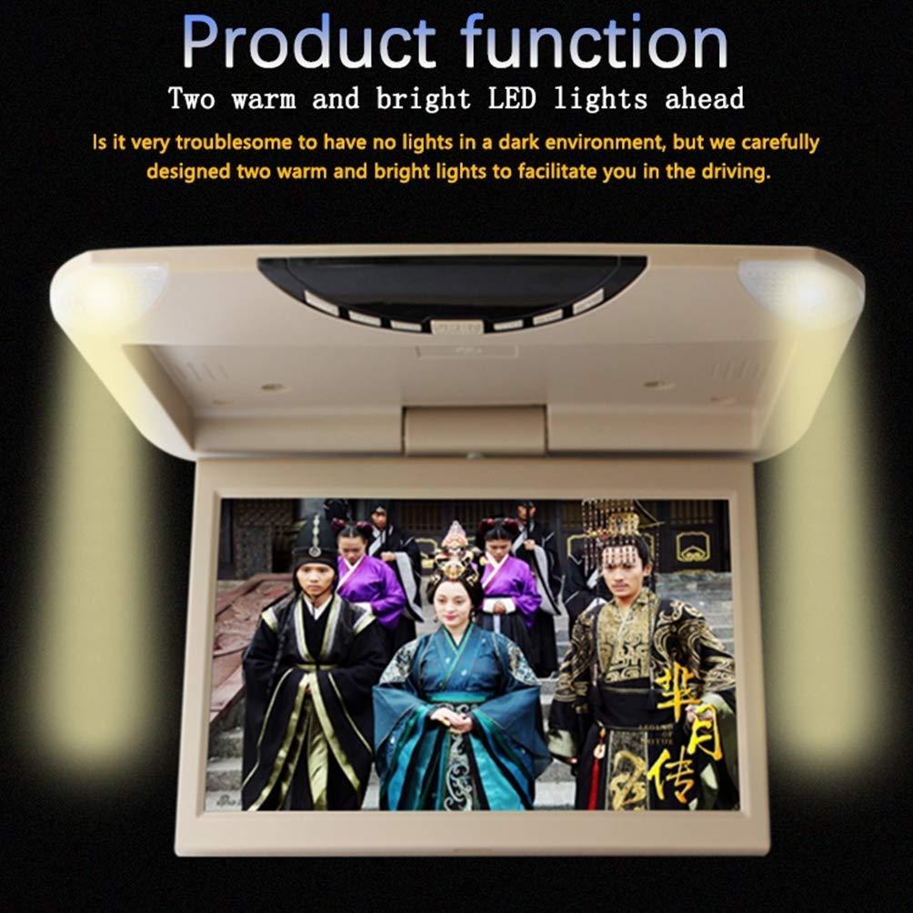 CZWXCD Moniteur de Montage sur Le Toit 1080P HD TFT LCD de Voiture Bascule Ultra-Plat pour 10.1 Lecteur vid/éo pour Voiture SD MP3 MP5 LED avec USB SD