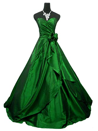 QPID SHOWGIRL GREEN TAFFETA A LINE BALL GOWN BRIDESMAID EVENING DRESS PROM DRESS UK SIZE 8