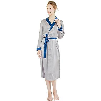 7 VEILS Womens Imitated Silk Satin Sleepwear Robe Dressing Gown at ... 1a5fe35bb