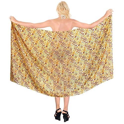 8ecce5c7fbb5 La Leela* envoltura resortwear encubrir sarong pareo las mujeres ...