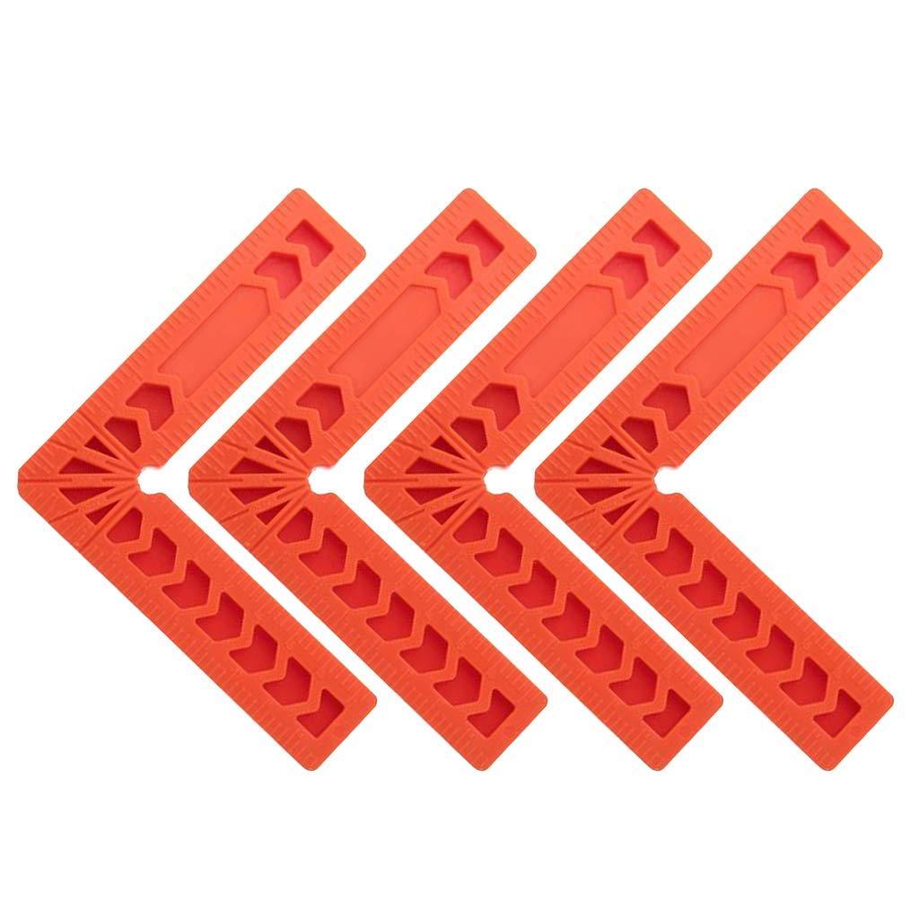 4 reglas de bloqueo de /ángulo cuadradas de posicionamiento escuadras de carpintero.