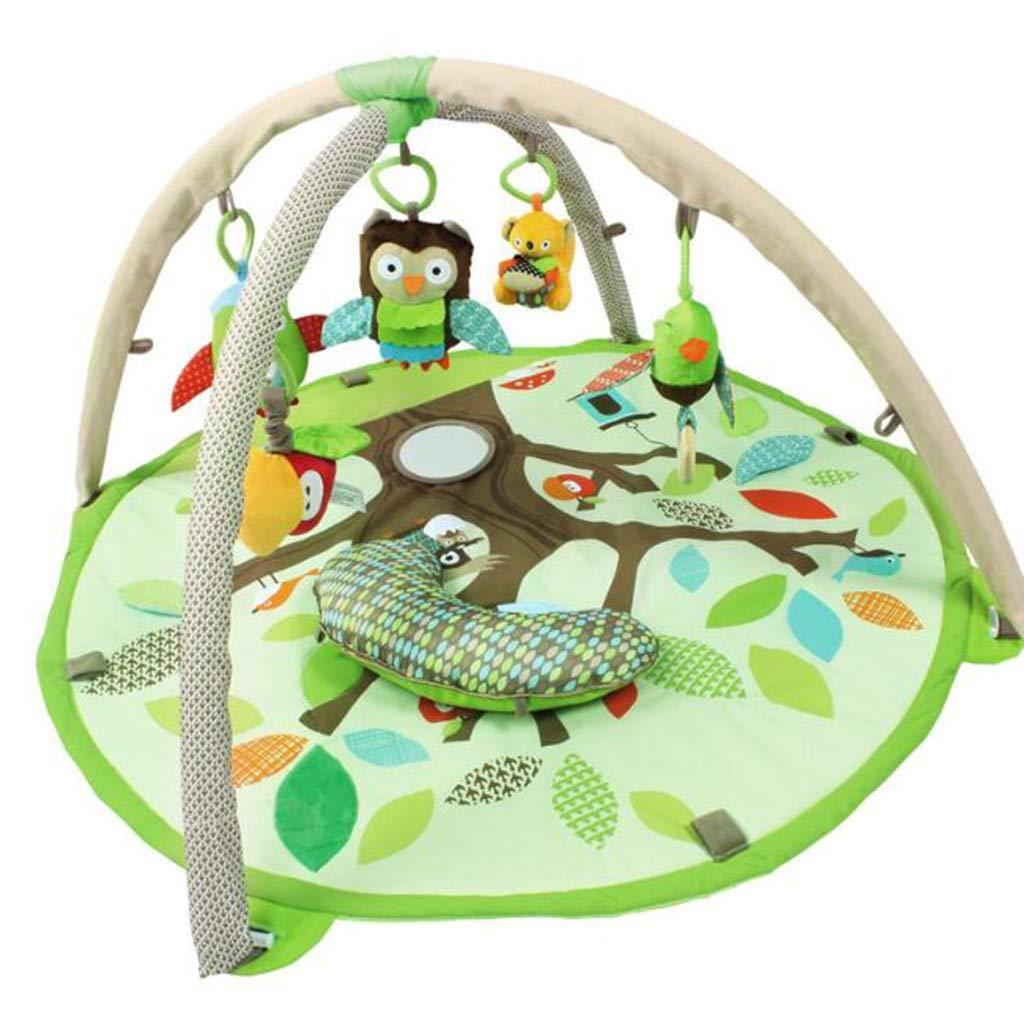 赤ちゃんのおもちゃフィットネススタンド親子の森の赤ちゃんパズルアーリーラーニング音楽おもちゃのマット子供マットマット   B07GFDTNDT