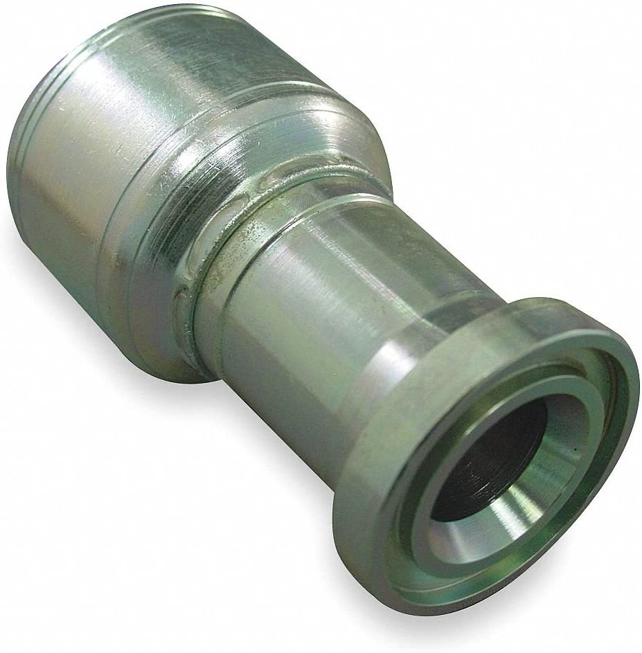 Trivalent Chromate Finish Carbon Steel EATON WEATHERHEAD Straight Hydraulic Flange Fitting Zinc