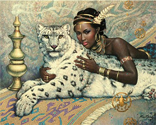 Mazixun DIY Diamond Embroidery Body Beauty Leopard Panther 5D Diamond Painting Cross Stitch Mosaic Pattern Full Square Rhinestone Home Decor (Art Panthers Body)
