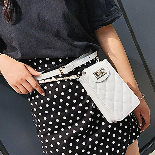 White Phone Leather Handbags Waist Pouch Pack Crossbody Everpert Women Shoulder Belt FXxXv