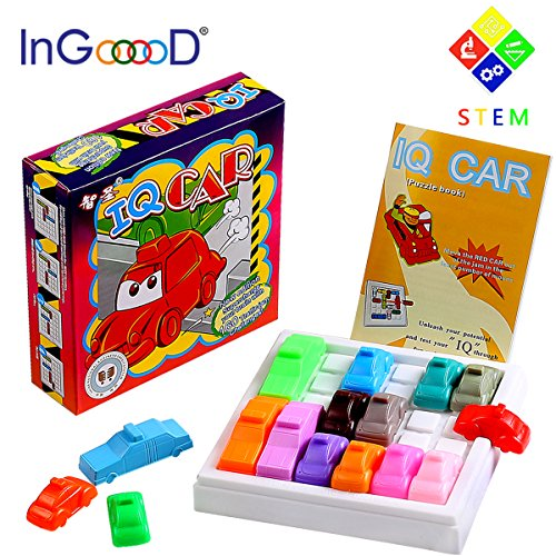 - Traffic Jam Logic Toys Games - Ingooood Challenging IQ Car Parking Puzzle Game Model Maze Parking Lot Smart Brain Rush Hour Toys Brain Games Adults Kid