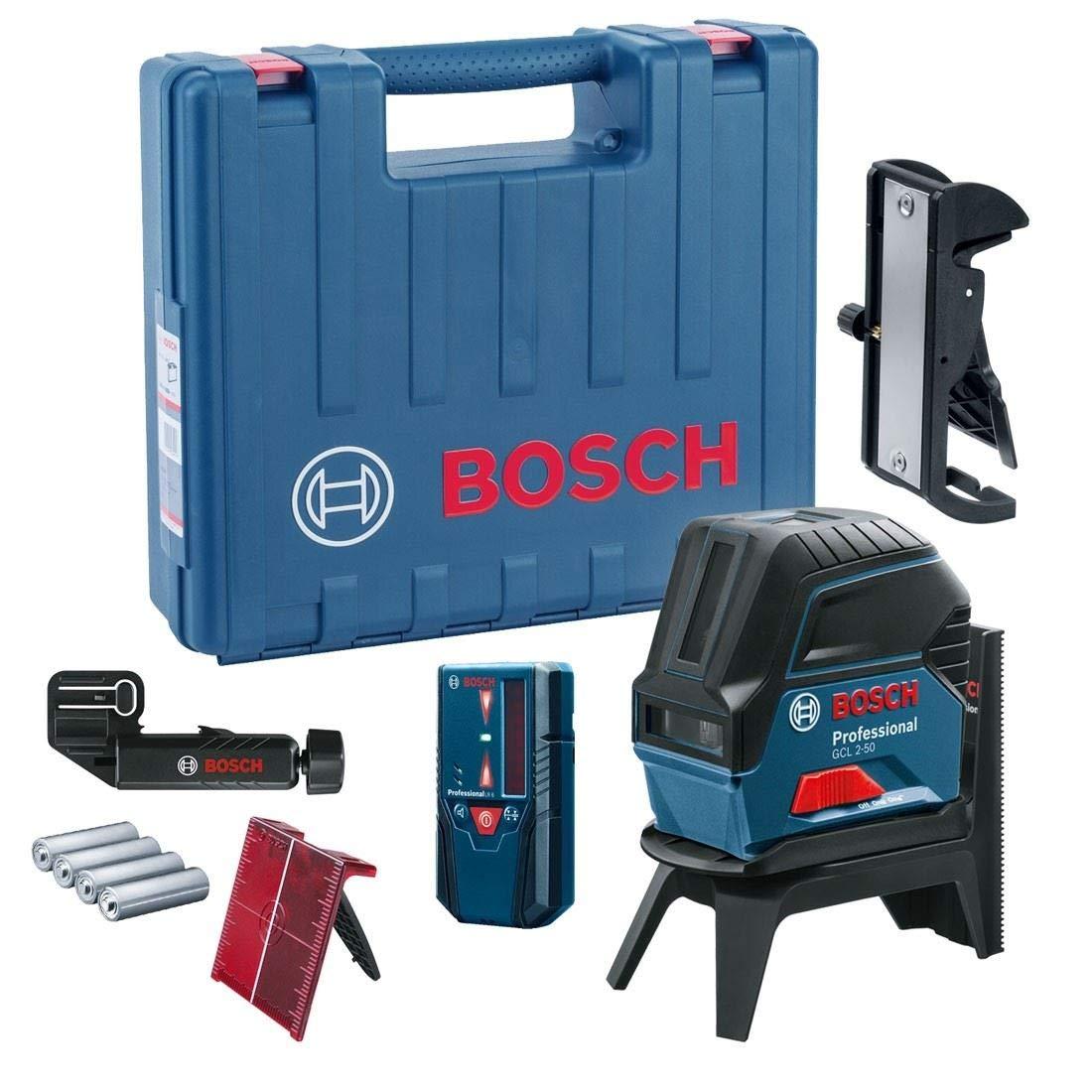 Module de r/éception LR6 en Coffret Bosch Professional 0601066F01 Niveau Laser Croix 2 Lignes GCL 2-50