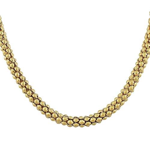 Amazon.com: edforce Gold-tone de acero inoxidable Enlace ...