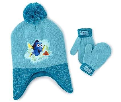 e6f0e617a00 Amazon.com  Disney Girls Finding Dory Nemo Knit 2-piece Winter Hat ...
