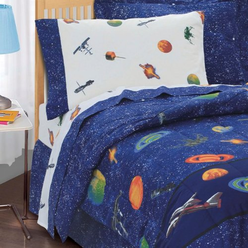 Dream Factory Outer Space Satellites Comforter Sets