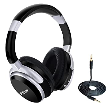 PTron Rodeo Over The Ear Stereo Wireless Bluetooth Headphones with Mic    Black  Accessory Kits