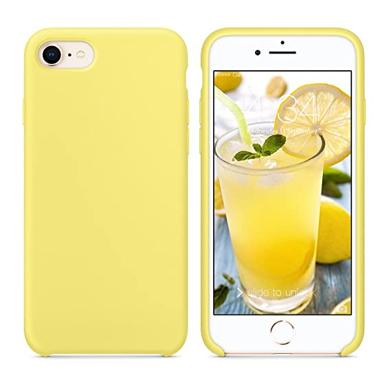 best loved be699 6cd72 SURPHY Silicone Case for iPhone 8 iPhone 7 Case, Soft Liquid Silicone Slim  Rubber Protective Phone Case Cover (with Microfiber Lining) for iPhone 7 ...