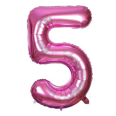 Smarcy Globos Número 5 Decoración de Cumpleaños 5 Años ...