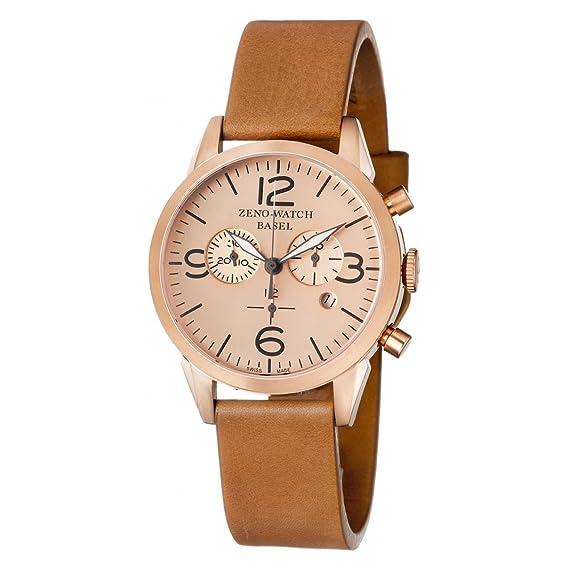 Zeno-Watch Reloj Mujer - Vintage Line Cronógrafo - 4773Q-Pgr-i6: Amazon.es: Relojes