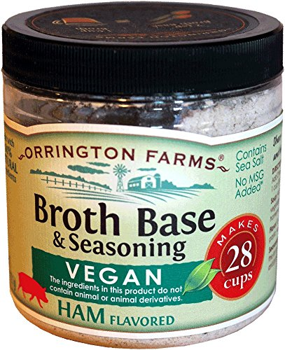 - Orrington Farms Vegan Ham Flavored Broth Base, 6 oz.
