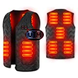 Adjustable Size Dual System Heated Vest with 7 Heating Zones