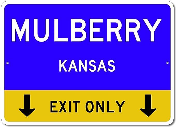 Cartel de Calle de Aluminio con Texto en Inglés Mulberry ...