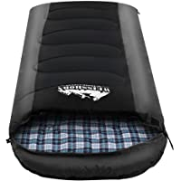 WEISSHORN Sleeping Bag Bags Single Camping Hiking -20°C to 10°C Tent Winter Thermal
