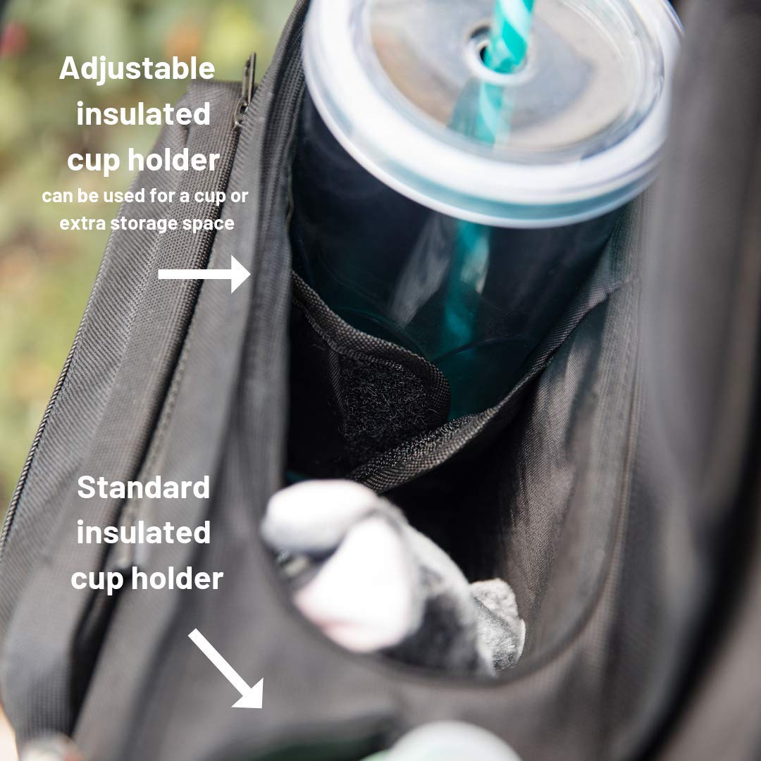 Premium Stroller Organizer Bag with Insulated Cup Holders, Extra-Large Stroller Storage, Changing Pad and Shoulder Strap | Universal Fit | Baby Stroller Accessories Caddy and Baby Shower Gift by Baby Charm (Image #5)