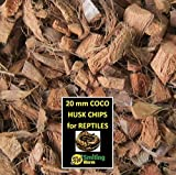 SMILING WORM 30 Quarts Loose Coco Chips + FREE 8 Quart Coco Chip Brick, Large Coco Husk Chips for Turtle Tortoise Substrate, Reptile Substrate Enclosure DELIVER IN 2-8 DAYS (38 Quarts)