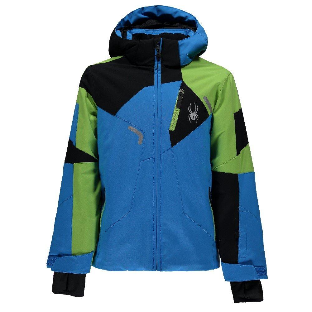 Spyder Kids  Boy's Leader Jacket (Big Kids) Fresh Blue/Fresh/Black 12