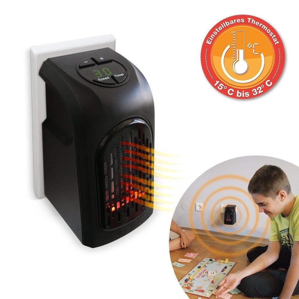 Livington Handy Heater 370 Watt Effektive Keramik Mini Heizung fü r die Steckdose Das TV Original von Mediashop