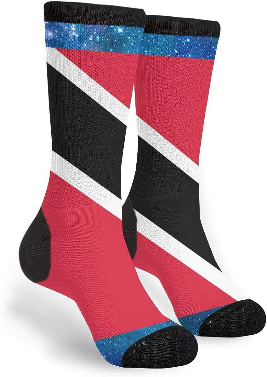 YISHOW Flag Of Trinidad And Tobago Funny Crew Socks