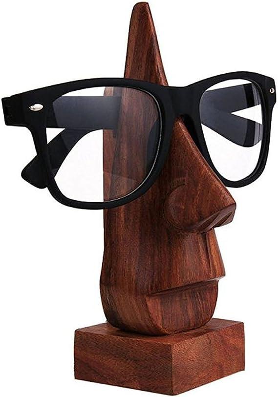 Weihnachten Oder Erntedankfest Der Tagesgeschenk Klassische Hand Geschnitzte Sheesham Holz Nasen Geformter Brille Brillenhalter Sonnenbrillenhalter Braune Brillenhalter Brillenständer Küche Haushalt