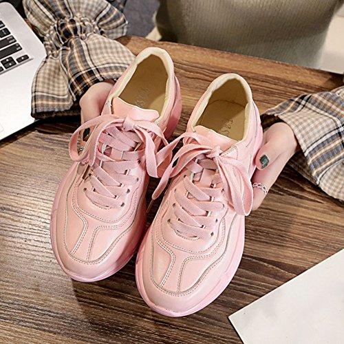 Cybling Vrouwen Oefening Atletische Loopschoenen Mode Lage Top Casual Sneaker Voor Student Roze