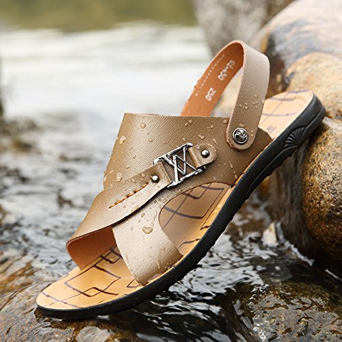 Uomini di estate nuovi uomini scarpe FiberMen Sandali moda Ventilazione Leisure Uomini, Khaki, Regno Unito = 7,5, EU = 41 1/3